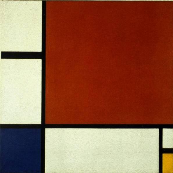 composicion con rojo amarillo y azul 1930 que significa este cuadro o escultura