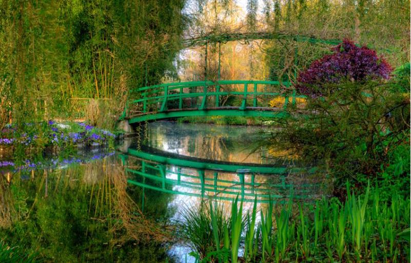 El puente japones 1899 que significa este cuadro o Cuadros para el jardin